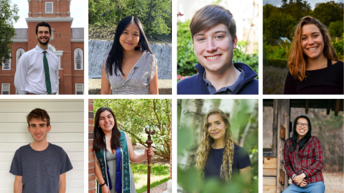 Pictured L-R: (Top) Nick Britton, Jess Chen, Will Dickerman, Emma Doherty (Bottom) Sam Lefkofsky, Emily Martinez, Julia Snodgrass, and Michelle Wang