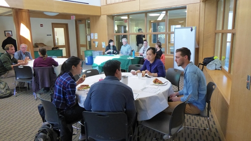 Students, staff, faculty, and community members gather at a bi-weekly DEC lunch
