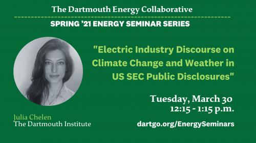Julia Chelen Dartmouth Energy Collaborative Talk 3/30