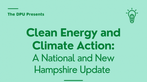 March 1 Dartmouth Political Union Clean Energy in NH and US event