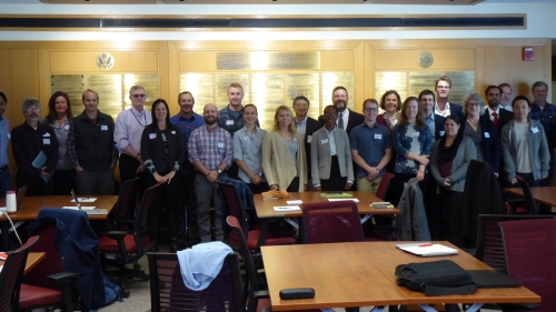 A group photo of Dartmouth and CRREL project participants
