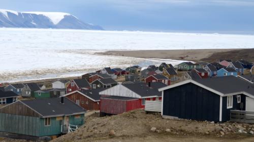 A view of Qaanaaq, Greenland