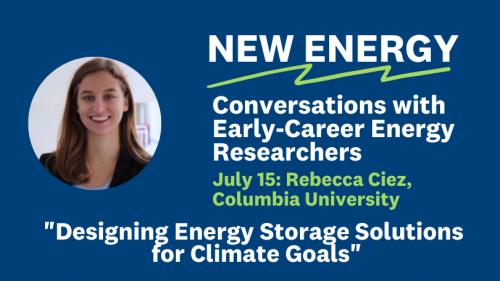 Rebecca Ciez New Energy Series July 15