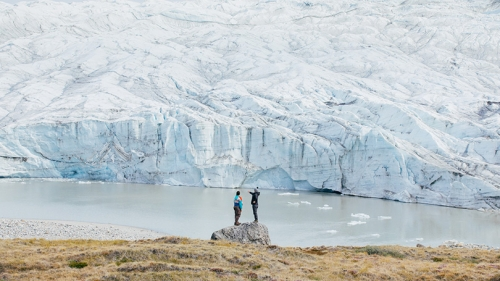 Dartmouth will build on its long-established cold-regions research work, such as this 2018 Institute of Artic Studies expedition to Greenland, in a collaboration among the Irving Institute, Thayer School of Engineering, and the U.S. Army's Cold Regions Re