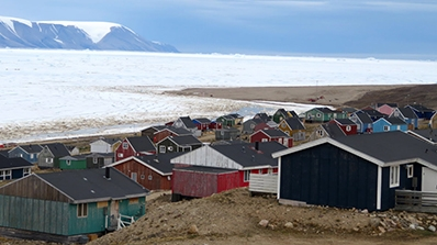 A view of a northern Arctic fishing village