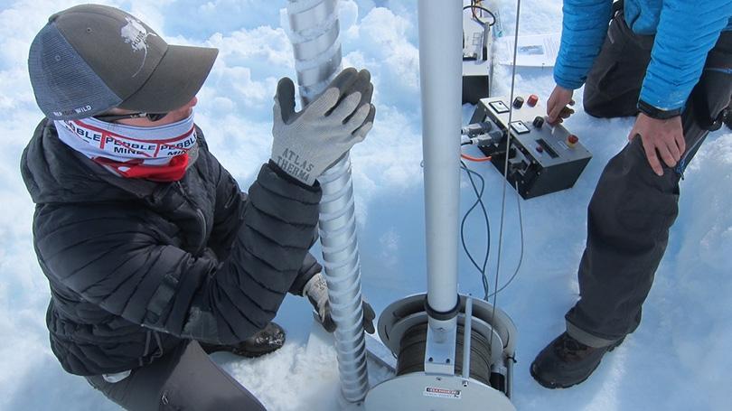 Ice Core Drilling at Denali National Park
