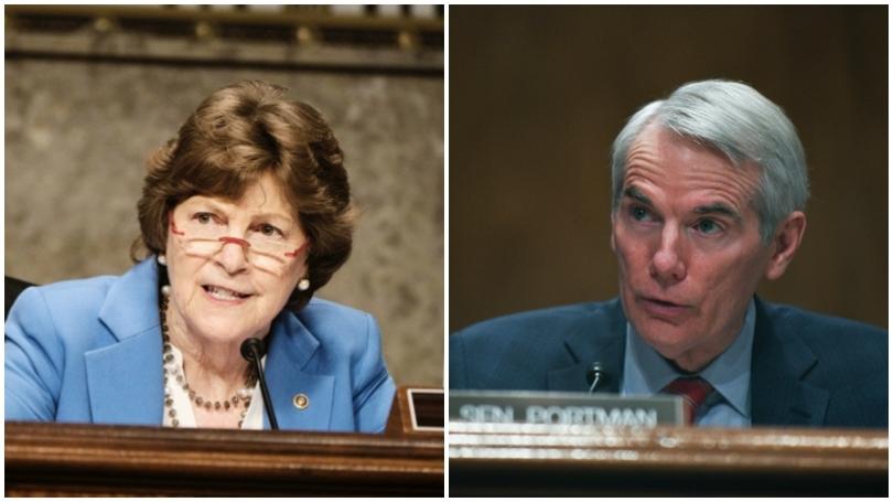Senators Jeanne Shaheen and Rob Portman