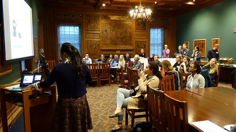 Faculty seed grant recipients at a November symposium