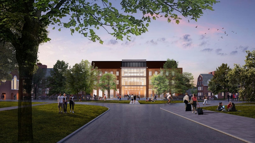 An architect's rendering of the new Arthur L. Irving Institute