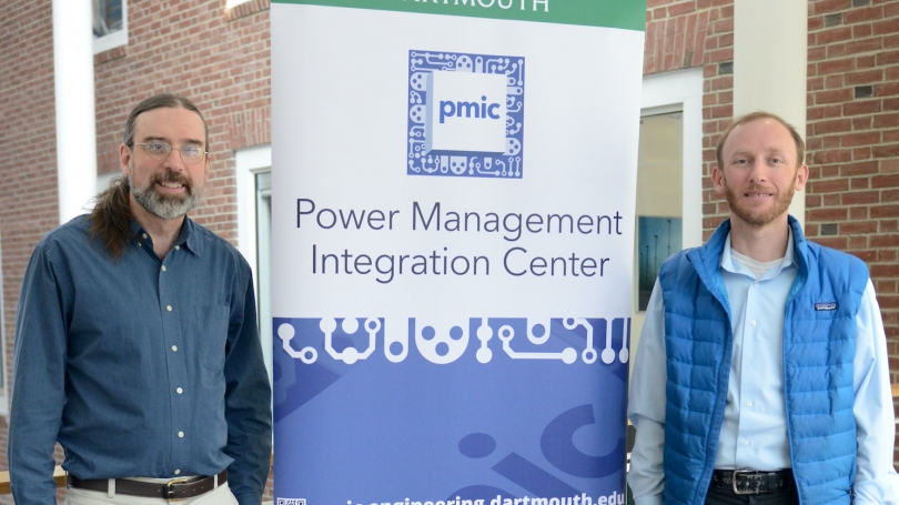Professors Charles Sullivan, left, and Jason Stauth are leading the partnership with electrical tech companies.